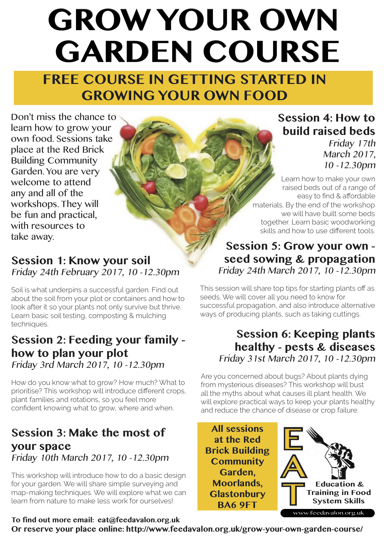 don t miss the grow your own garden course feed avalon gyog 2017