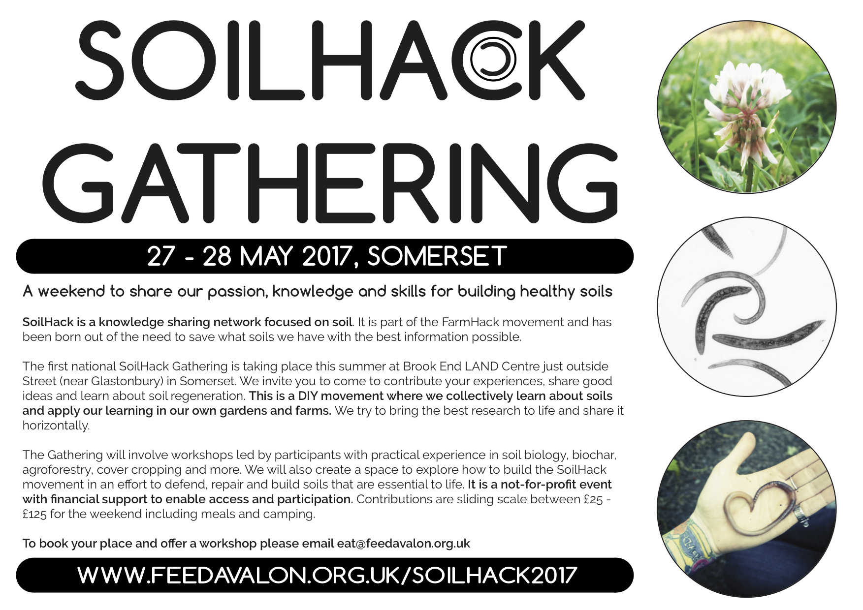 Announcing the soilhack gathering 2017 feed avalon for Soil 2017 book